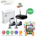 Ipcc 2ch kit de vigilancia inalámbrica wifi 1080 p 2mp cámara ip wifi cámara ip exterior ip66 a prueba de agua de red nvr cctv sistema