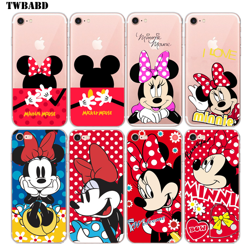 Minnie Mouse Soft TPU Case for coque iphone 6 6s Cute Mickey Back Cover for iphone 6 2017 new arrivals cases for iPhone 6S
