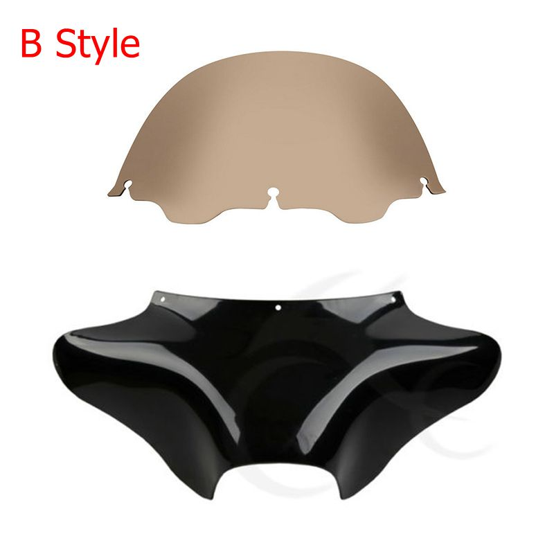 Motorcycle Front Outer Batwing Fairing + Windshield Wind Deflectors For Harley Touring Road King Dyna Switchback Fat Boy