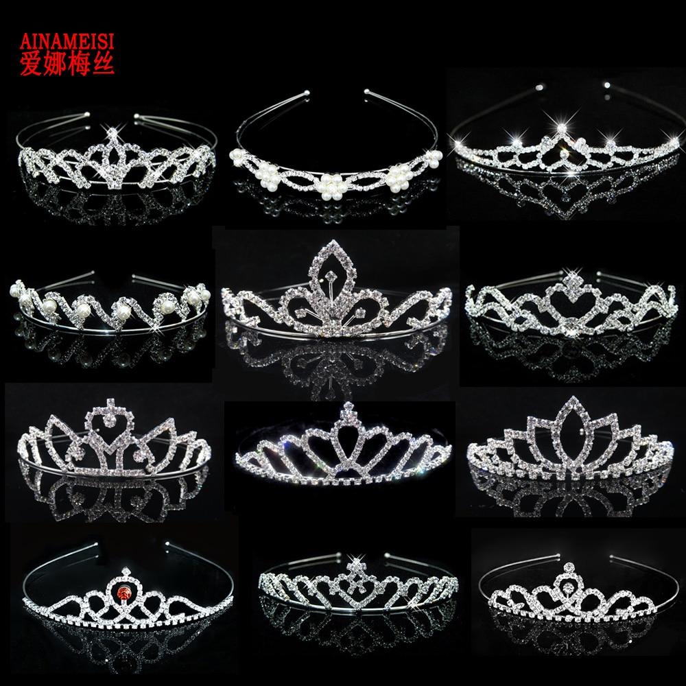 Ainamaisi принцесса хрустальные диадемы и короны, повязка на голову, ребенок, девушки, любовь, свадьба, выпускной, корона, аксессуары для свадьбы,...