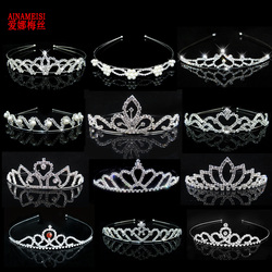 AINAMEISI Princess Crystal Tiaras and Crowns Headband Kid Girls Love Bridal  Prom Crown Wedding Party Accessiories 3c17d1a2af82