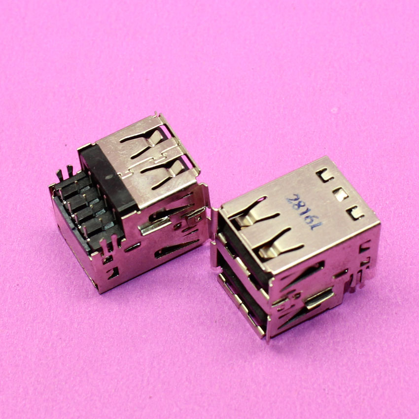 YuXi Brand New 17*14*13mm Female Double USB Connectors, Commonly used in PC brand new smt yamaha feeder ft 8 2mm feeder used in pick and place machine