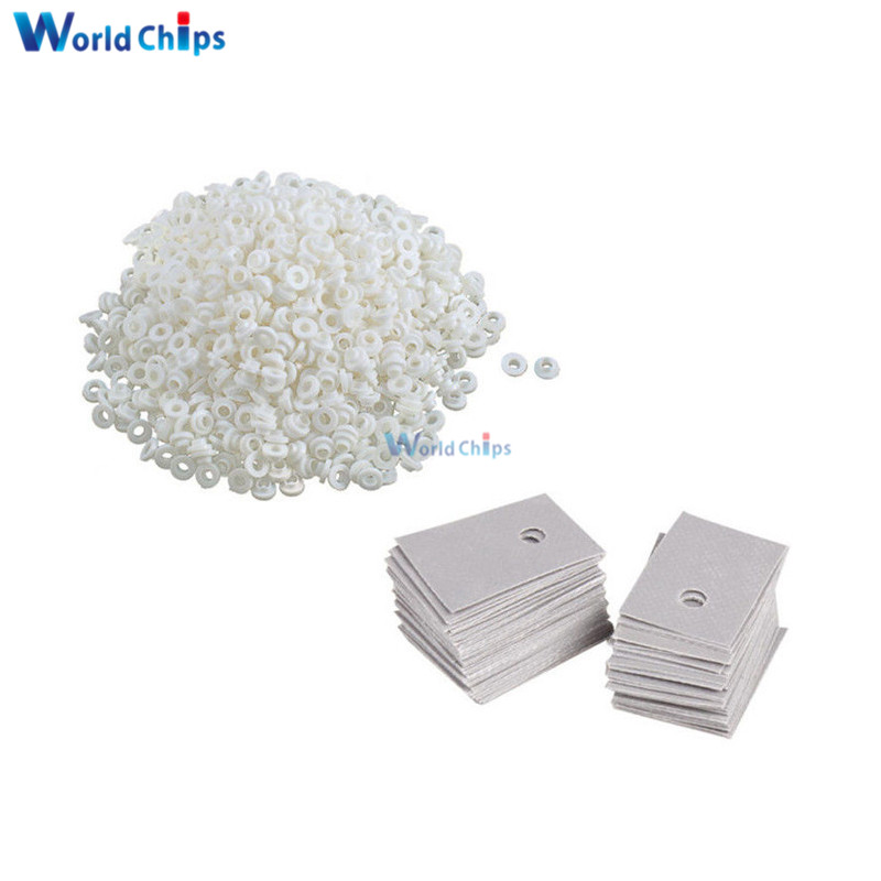 100PCS TO-220 Transistor Plastic Washer Insulation Washer + TO-220 Pads Silicone(China)