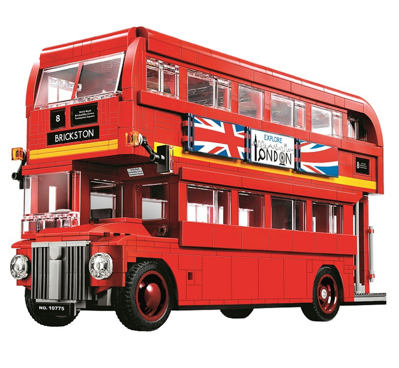 10775 United Kingdom Britain London Double-Decker Bus Building Kit Blocks Bricks Toys for children Compatible Legoings Bus lepin 21045 united kingdom britain london double decker bus building kit blocks bricks toy for gift 10258