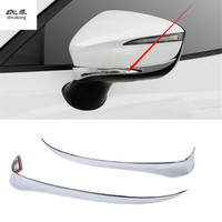 2pcs/lot ABS chrome for 2015 2016 2017 2018 Mazda CX 3 CX3 CX 3 car accessories car stickers rear view mirror protective cover