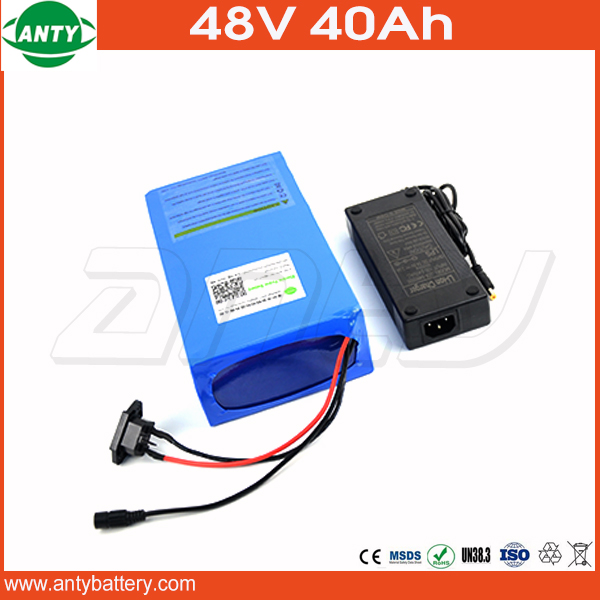 1800W Lithium Battery 48V 40Ah For Electric Bicycle Drive Motor 48V With 54.6V Charger And 50A BMS 48V eBike Battery DIY Bike free customs taxes ebike battery 48v 40ah 2000w electric bicycle lithium battery pack with charger and 50a bms