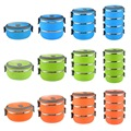 2016 Baby Food Storage Containers and Durable Circular Portable Food Containers Stainless Steel Heat Insulation Lunch Boxes