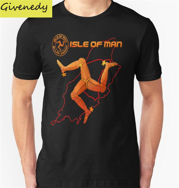 A Ilha de Man TT Internacional (Tourist Trophy) Camisa de T Dos Homens % 100 Algodão de manga Curta T-Shirt Da Moda O-pescoço de Impressão