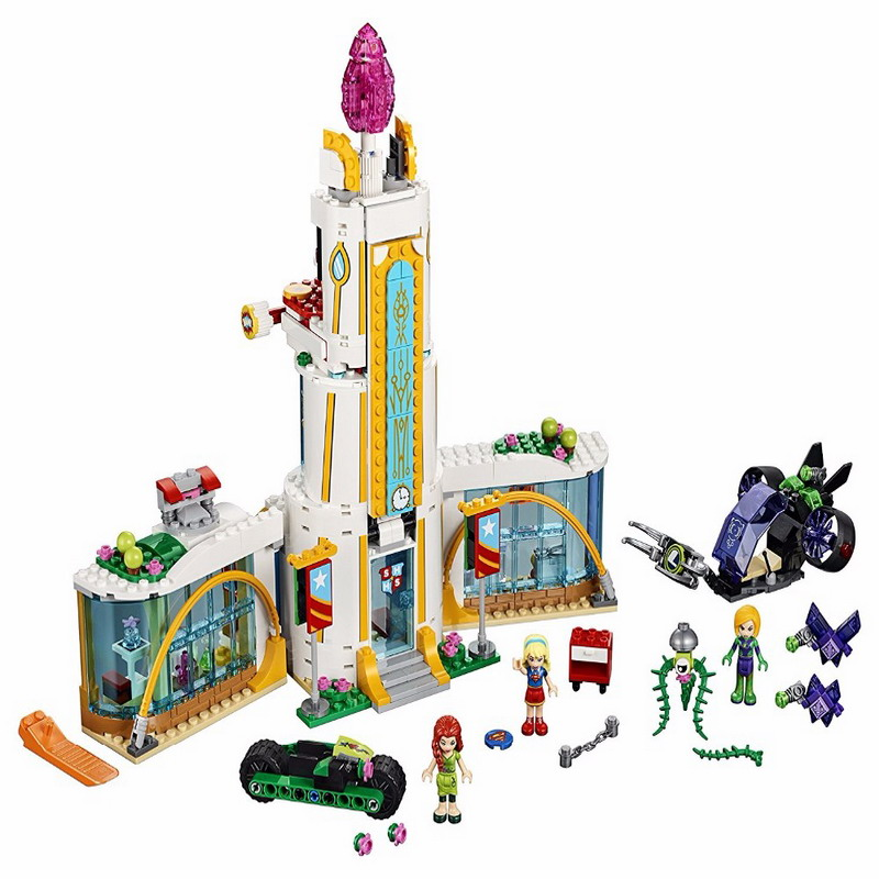 29001 LEPIN Friends Series Super Hero High School Model Building Blocks Enlighten DIY Figure Toys For Children Compatible Legoe decool 3117 city creator 3 in 1 vacation getaways model building blocks enlighten diy figure toys for children compatible legoe