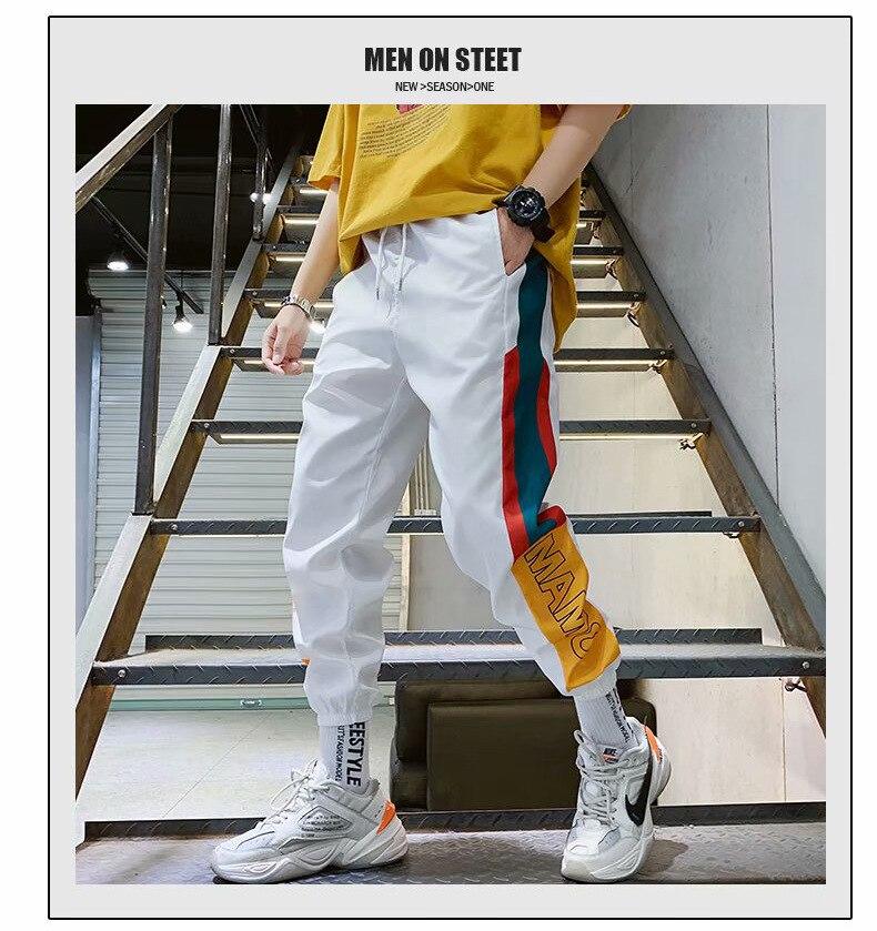 Homens de Moda Impresso High Street Harem Pant Para masculino