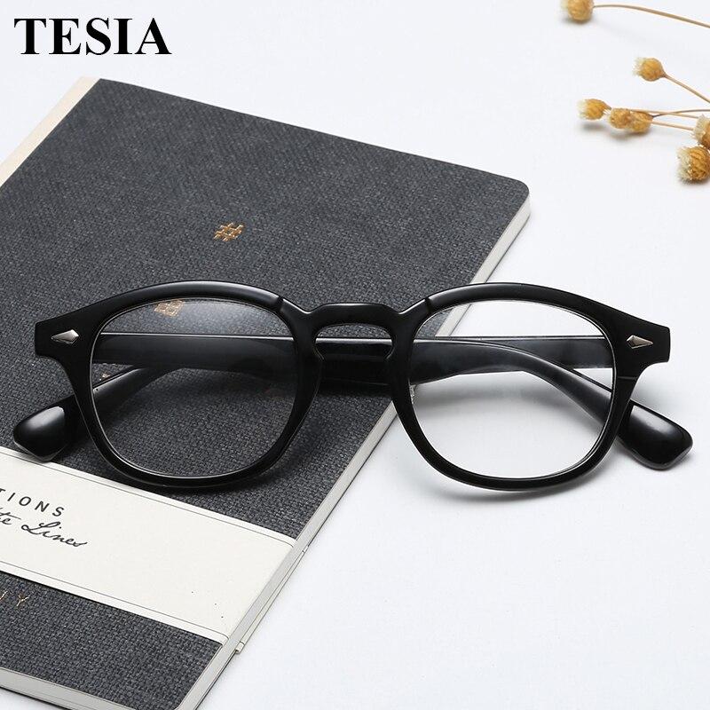 2019 Trending Johnny Depp Stil Gläser Männer Frauen Vintage Optische Myopie Rahmen Brillen Rezept Schauspiel Klare Linse