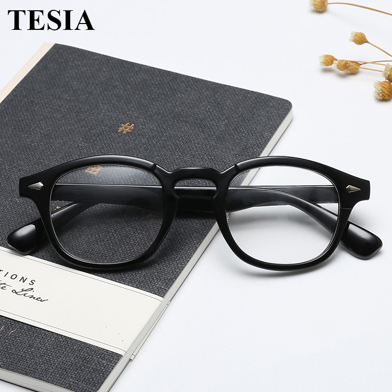 2019 Trending Johnny Depp Style Glasses Men Women Vintage Optical Myopia Frames Eyeglasses Prescription Spectacle Clear Lens