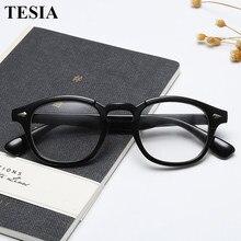 2019 trending johnny depp estilo óculos de homem feminino vintage óptica miopia quadros óculos prescrição óculos lente clara