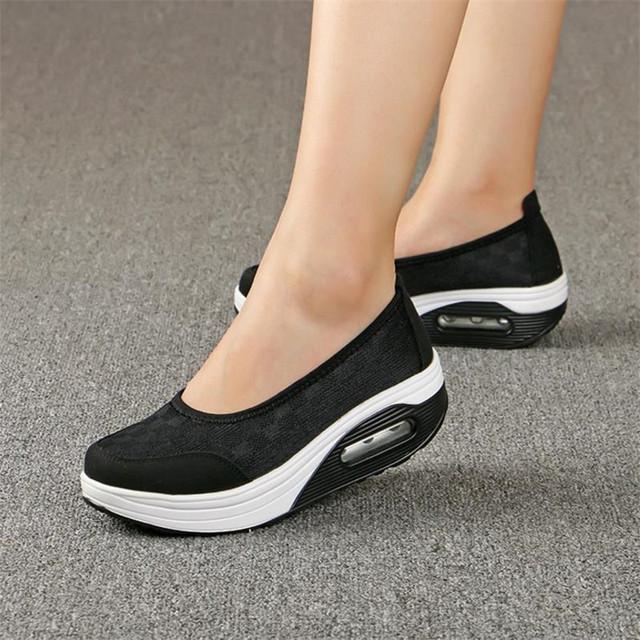 2019 Summer new Women's thick-soled shoes shake fashion casual Shake shoes thick bottom sponge cake single cushion shoes s012