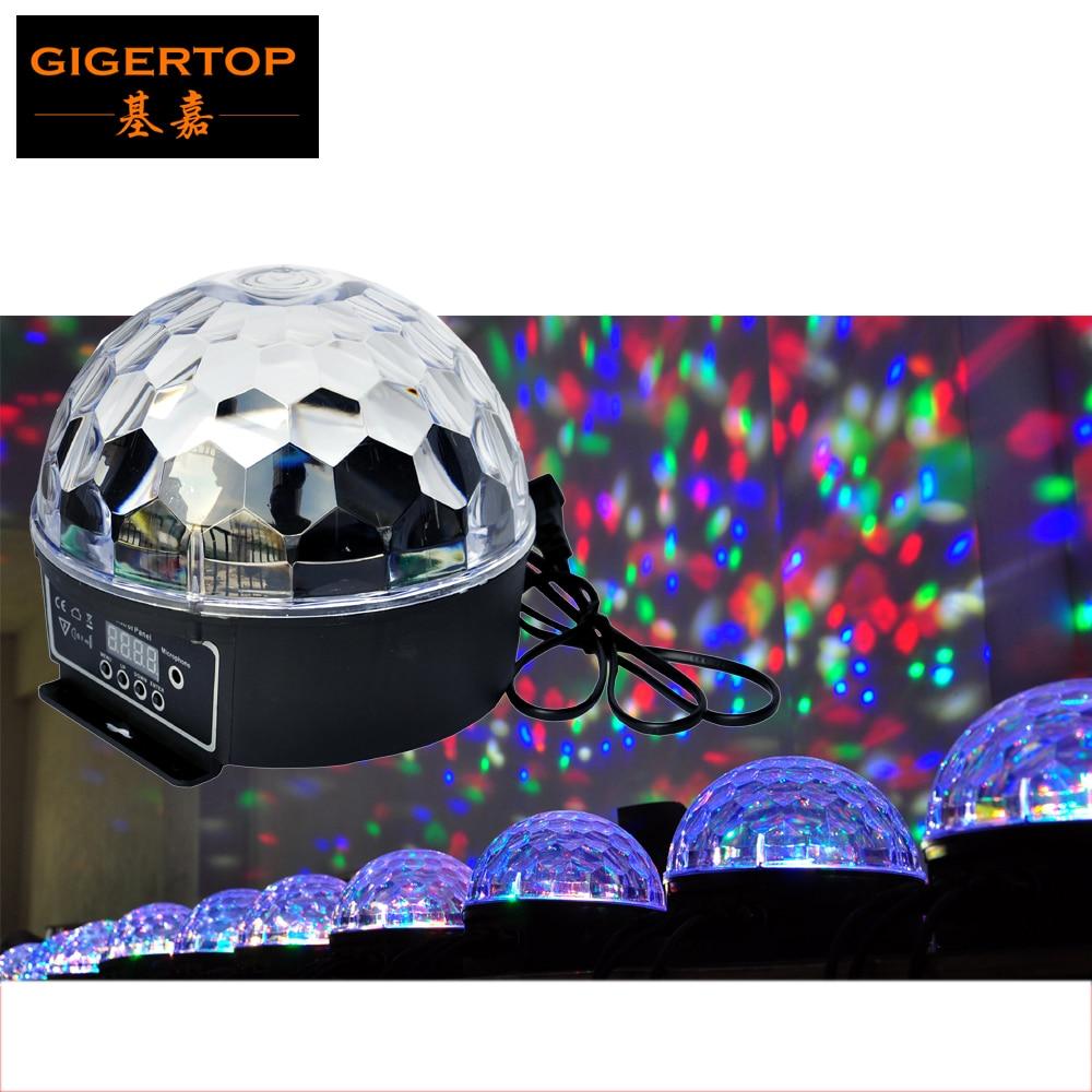 TIPTOP TP-E11 Disco Led Magic Ball Light Mini Size 6x3W RGBWAP Single Color Laser Effect Party Club DMX/Auto KTV Light 50 Pack