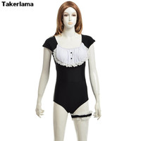Takerlama SUKUMIZU Japonês Uniforme Biquíni Maiô Lolita Maid Cosplay One-Piece Swimwear Bonito Do Bebê Sentimento Swimmear