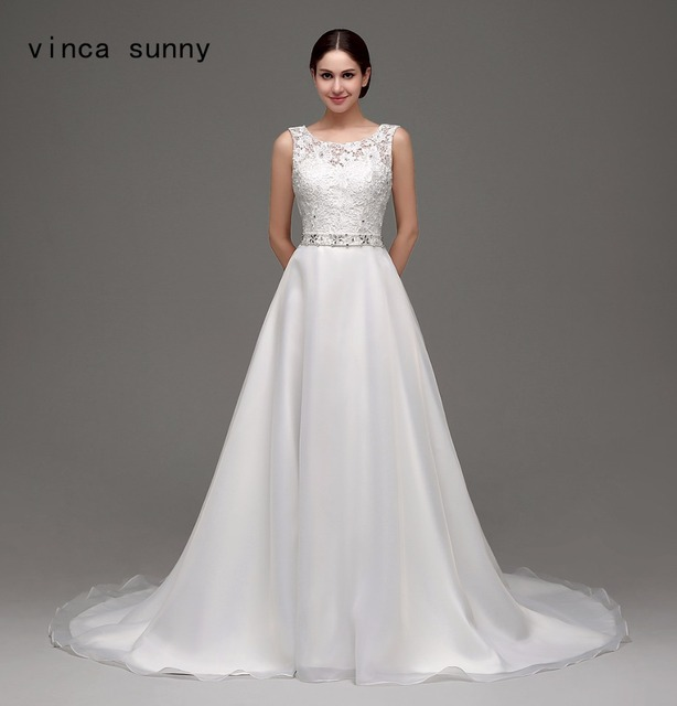 vinca sunny 2018 beach backless wedding dresses a line s Chiffon ...