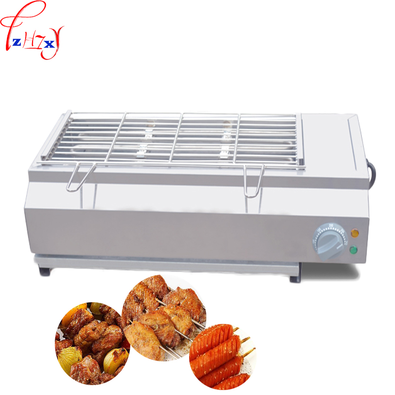 Commercial electric heating smokeless barbeque FY-Q70 Stainless steel electric barbeque equipment 220V 3KW 1PCCommercial electric heating smokeless barbeque FY-Q70 Stainless steel electric barbeque equipment 220V 3KW 1PC