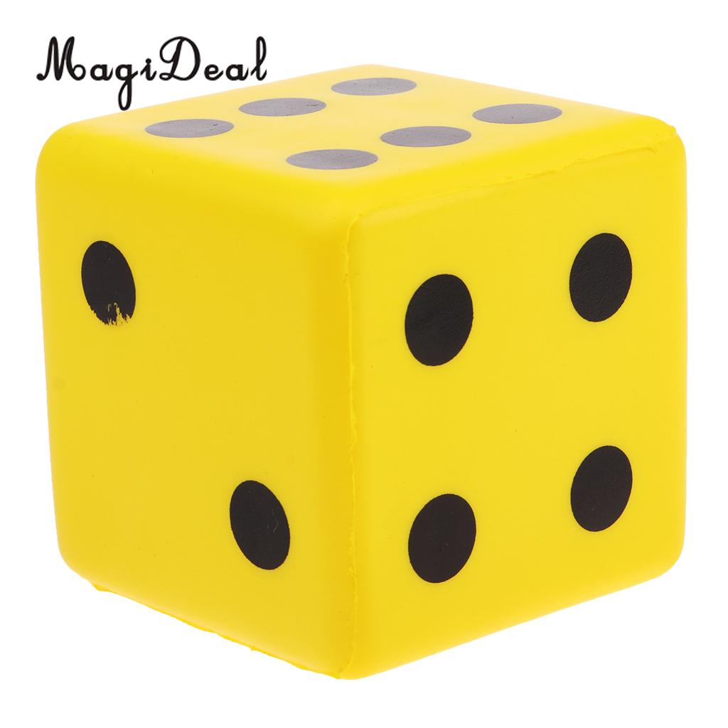 MagiDeal Kids Toys Sponge Dice Foam Dot Dice Playing Dice For Math Teaching Vent Toy Educational Camping Hiking Playing Dice