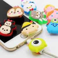 Bande dessinée USB chargeur câble organisateur câble protecteur pour iPhone casque données ligne économiseur Protection pour samsung huawei xiaomi