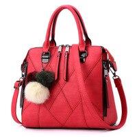 2016 Europese en Amerikaanse retro handtas beroemde merk Hoge kwaliteit scrub PU lederen schoudertassen stiksels vrouwen Messenger bag