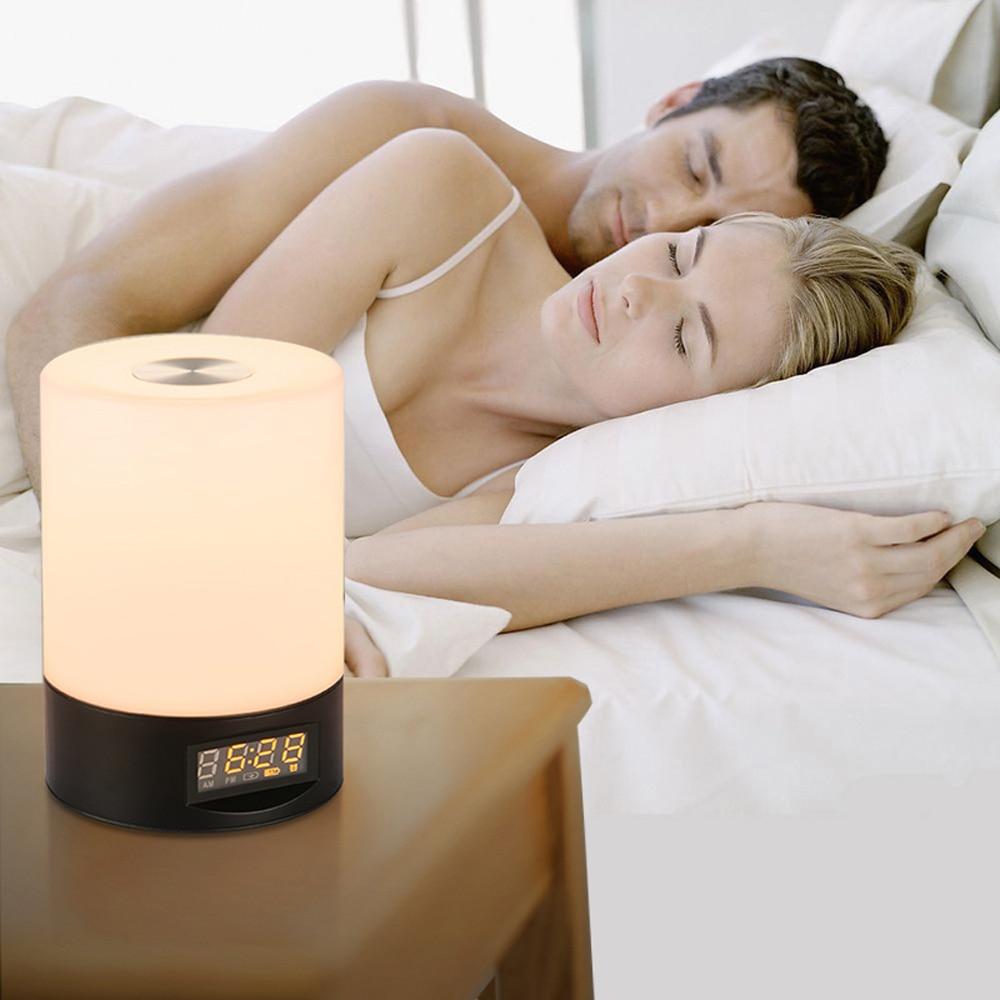 Jiawen Wake Up Light Alarm Clock Sunrise Simulation Digital Clock USB Rechargeable Colorful Night Light novelty run around wake up n catch me digital alarm clock on wheels white 4 aaa