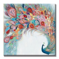 Hot Sale Peacock Oil Paintings 100 Hand Painted Canvas Art Pictures For Home Living Room Wall