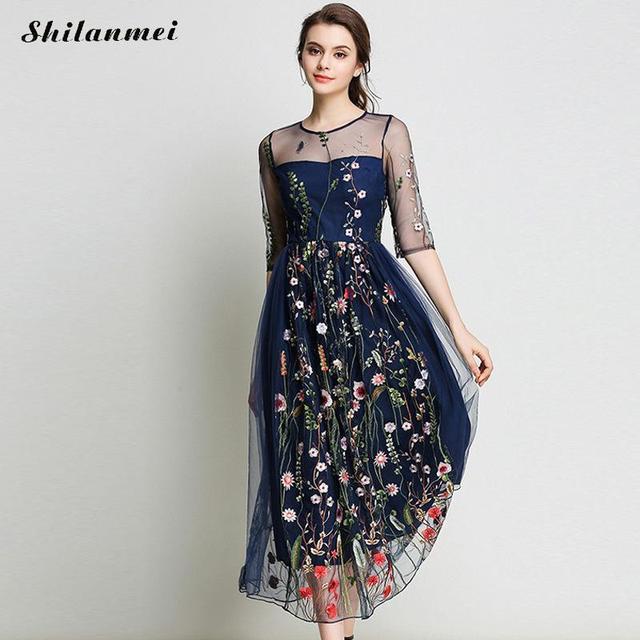 Kleid durchsichtig blumen