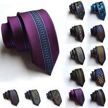 Новое поступление мужские галстуки 6 см Узкий Тонкий шелковый галстук Повседневная мода Британский Стиль Свадебные Узкие галстуки Галстук подарки для мужчин