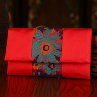 Creative Wedding Gift Bag Luxury Handmade Wedding Satin New Year Coth Red Envelopes Chinese Embroidery