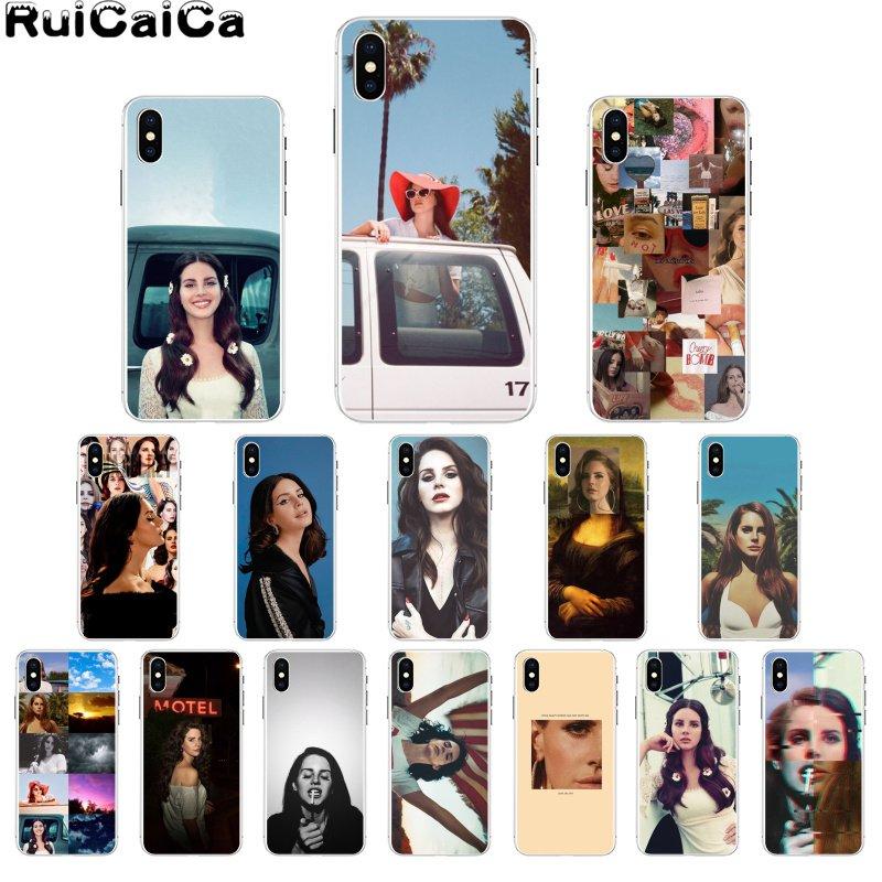 RuiCaiCa Sexy cantante modelo Lana Del Rey DIY pintado hermosa caja Del teléfono para el iPhone 8 De Apple 7 6 6S Plus X XS X MAX 5 5S SE XR