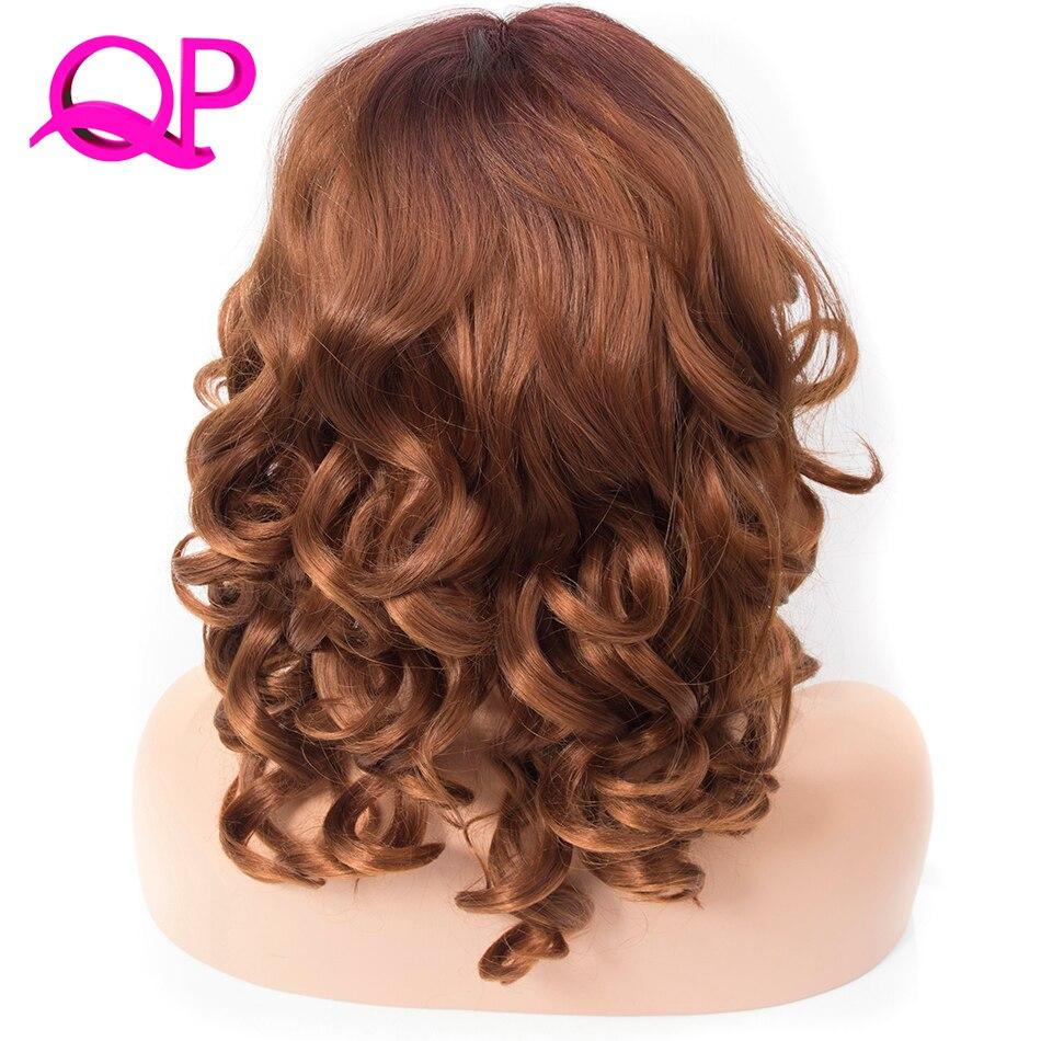 Qp волосы короткие боб парики для черный женщины теряют волна синтетические кружева спереди парик L shapped с естественным роста волос для парти...