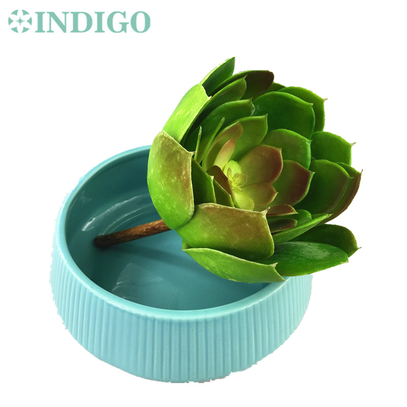 INDIGO- Big Desert Lotus Artificial Succulent Plant Plastic Flower Green Plant Decoration Green Plant Background Free Shipping