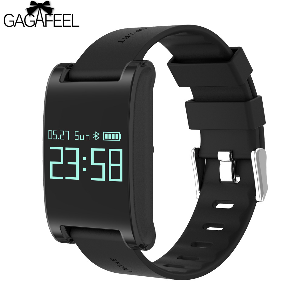 GAGAFEEL OLED Touch Screen Smart Bracelet Wristwatch for IOS iPhone Android Heart Rate Monitor Waterproof Smart Watch Clock smart watch dm88 bluetooth heartrate monitor writswatch romote camera touch screen leather bracelet watch for ios android phones