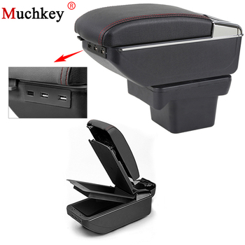 For Volkswagen VW Touran L 2016-2018 Car Usb Armrest Box Center Storage Box With Cup Holder Ashtray Stowing Tidying Arm Rest