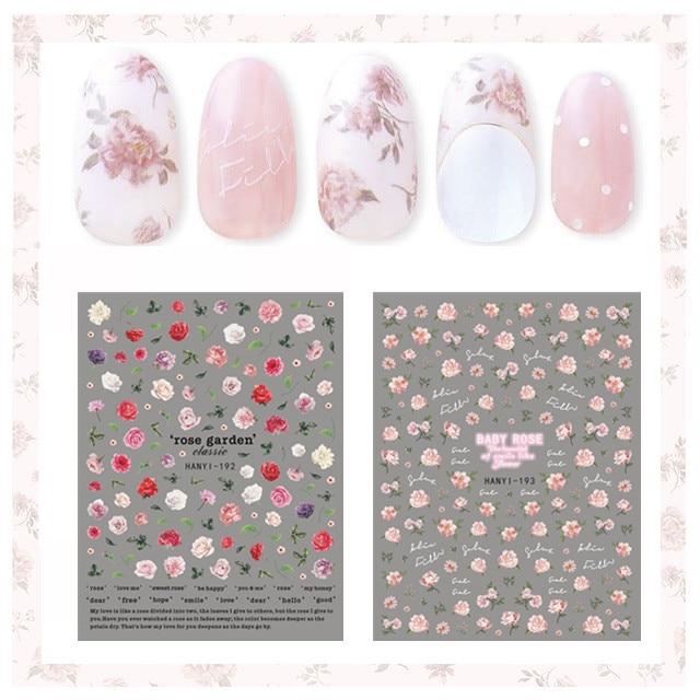newest 177-179-184 flowers design designs 3d nail art sticker fashionTemplate sticker decal  MAGICO
