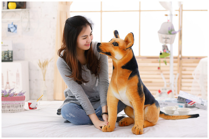 new simulaiton plush shepherd dog toy sitting shepherd dog doll gift about 80cm alocs cw c01 outdoor tableware aluminium alloy 1 2 person 7pcs camping cook set portable for outdoor hiking picnic