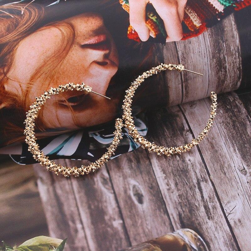 Nuevos pendientes Vintage para mujer oro redondo C geométrico declaración pendiente 2019 pendiente de metal colgante joyería de moda