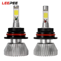 LEEPEE 2pcs C6 Series 9004 60W Conversion Light Head Light Unviersal COB All In One High