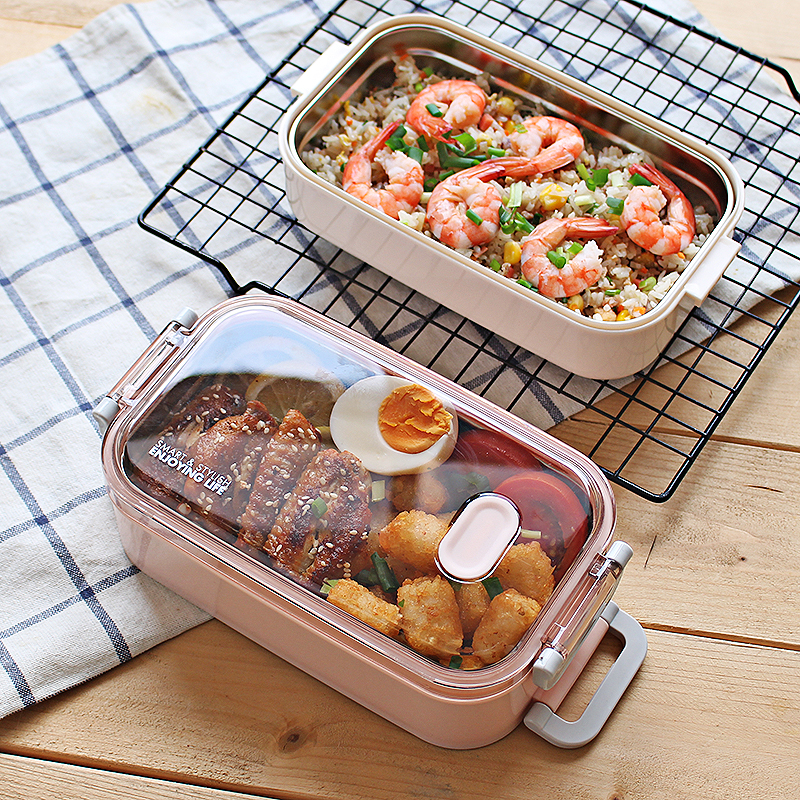 Thermal Lunch Box Leak Proof Stainless Steel Bento Box Kids Portable Picnic School Food Container Box Microwave oven heating