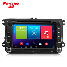 Newsmy Quad Core 2g RAM 2 din 8 INCH VW Android 4.4 Car video player for GOLF POLO PASSAT SKODA CC JETTA TIGUAN TOURAN EOS GPS