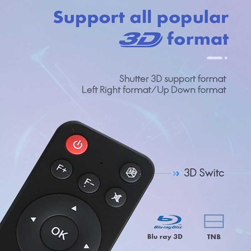 WZATCO T5 HD 4K אמיתי 3D DLP מקרן סוללה עם זום, אוטומטי Keystone, אנדרואיד 6.0 WiFi LED חכם Proyector Bluetooth Airplay