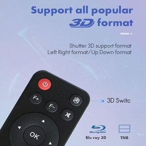 WZATCO T5 портативный мини DLP 3D проектор 4K 5G WIFI умный Android для домашнего кинотеатра проектор Full HD 1080P видео лазерный проектор