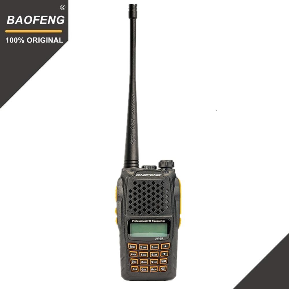 Baofeng UV-6R Talkie Walkie 7 w Professionnel CB Radio Double Bande 128CH LCD Affichage Sans Fil Pofung UV6R Portable Jambon Deux way Radio