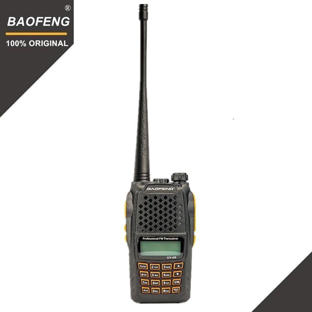 Baofeng UV-6R Walkie Talkie 7 watt Professionelle CB Radio Dual Band 128CH LCD Display Wireless Pofung UV6R Tragbare Ham Zwei weg Radio