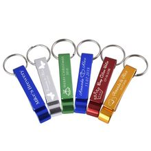 30pcs Personalized Engraved Bottle Openers Key Chain Wedding Favors Brewery, Hotel, Restaurant Logo Christmas Private Customized