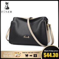 FOXER Brand Women Crossbody bag & Shoulder bags Female Genuine leather Messenger Bag Women's Fashion Small Bags