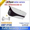 Оригинал dahua IPC-HFW4433M-I2 заменить IPC-HFW4431M-I2 IPC-HFW4431D 4MP Звездная Пуля IP POE ИК CCTV камера с кронштейном