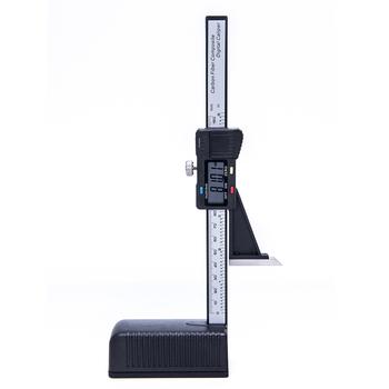 Cyfrowy miernik wysokości 0-150mm suwmiarka elektroniczna cyfrowa wysokość noniusz suwmiarka linijka linijka do obróbki drewna tanie i dobre opinie 0 2mm Digital height ruler 3V CR2032