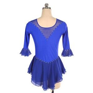 Image 2 - Nasinaya איור החלקה החלקה על קרח חצאית תחרות שמלה מותאם אישית לילדים נשים בחורה Patinaje התעמלות ביצועים 226